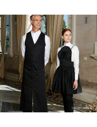 Alloro Black- Low apron with waist band